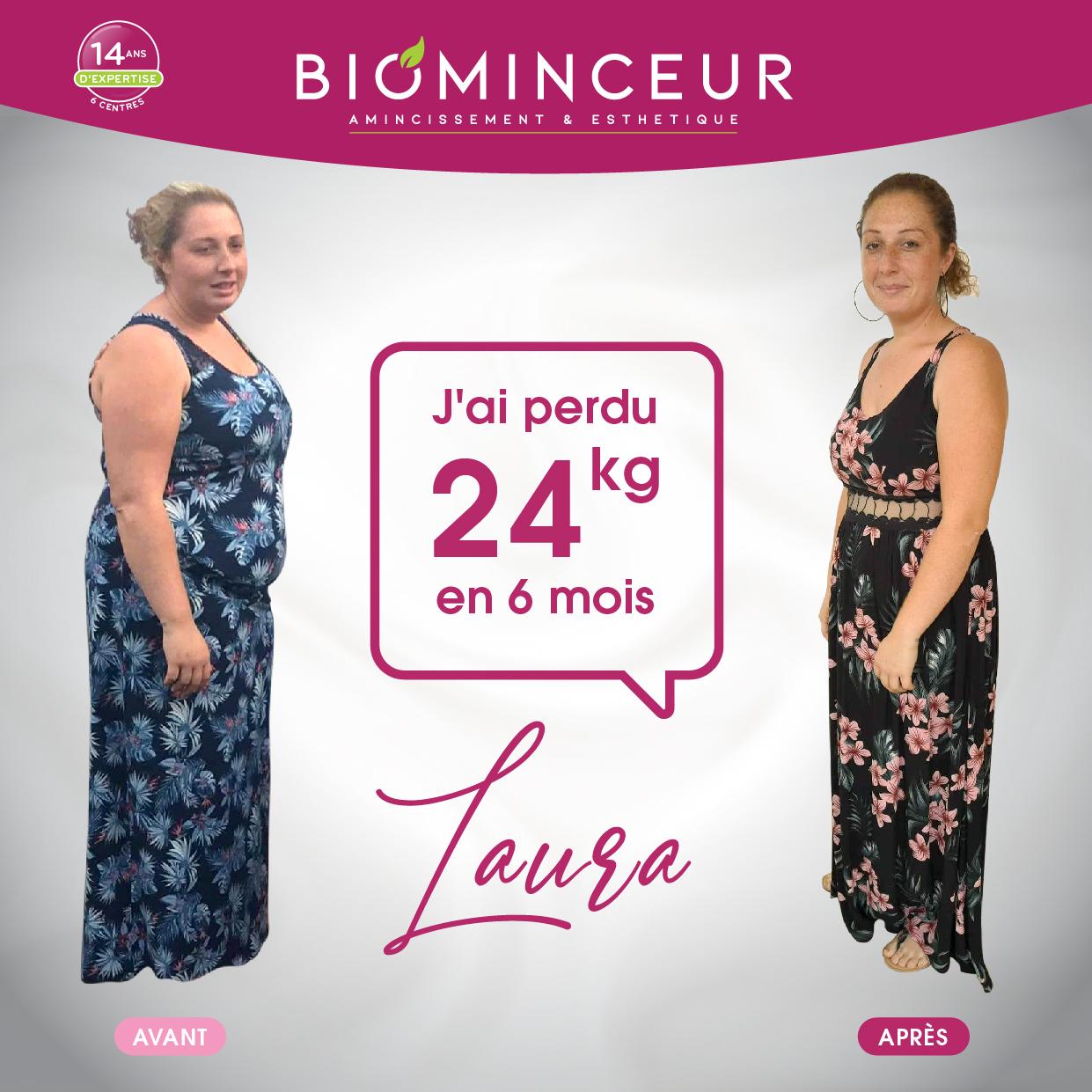 Résultats perte de poids Biominceur Laura