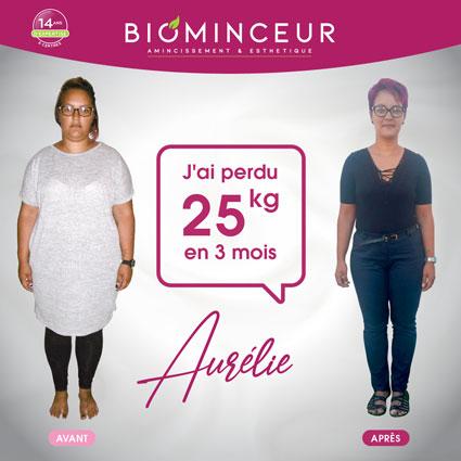 Résultats perte de poids Biominceur Aurelie