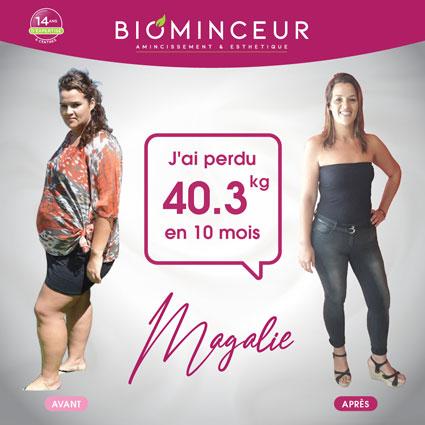Résultats perte de poids Biominceur Magalie